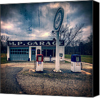 Classic Gas Pumps Canvas Prints - Old  gas station  Canvas Print by Emmanuel Panagiotakis