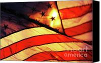 American Flag Canvas Prints - Old Glory Canvas Print by Anahi DeCanio