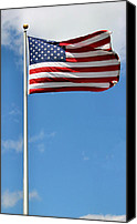 Flagpole Canvas Prints - Old Glory Canvas Print by Kristin Elmquist