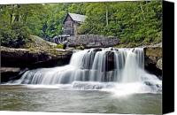 Grist Mill Canvas Prints - Old Grist Mill in Babcock State Park West Virginia Canvas Print by Brendan Reals