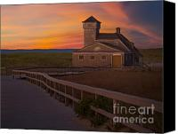 Race Point Canvas Prints - Old Harbor U.S. Life Saving Station Canvas Print by Susan Candelario