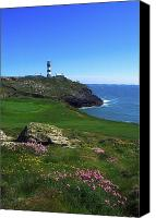 Golfing Canvas Prints - Old Head Of Kinsale Lighthouse Canvas Print by The Irish Image Collection 