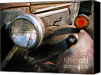 Rusted Cars Canvas Prints - Old Headlights Canvas Print by Colleen Kammerer