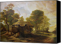 Danscurtu Canvas Prints - Old Hut  Canvas Print by Dan Scurtu