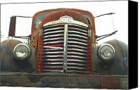 Old Trucks Canvas Prints - Old International Gravel Truck Canvas Print by Randy Harris