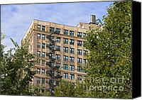 Architectural Detail Canvas Prints - Old iron fire escape Chicago IL Canvas Print by Christine Till