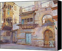 Saudi Canvas Prints - Old Jeddah Canvas Print by Dorothy Boyer