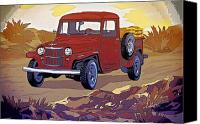 Natalie Berman Canvas Prints - Old Jeep Canvas Print by Natalie Berman