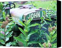 John Deere Tractor Canvas Prints - Old John Deere Canvas Print by Robert Ponzoni