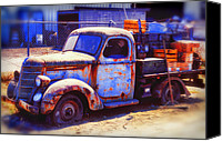 Rusty Door Canvas Prints - Old junk truck Canvas Print by Garry Gay