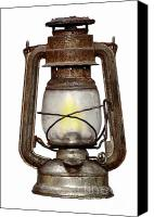 Oil Lamp Canvas Prints - Old Kerosene Lamp Canvas Print by Michal Boubin