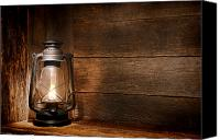 Oil Lamp Canvas Prints - Old Kerosene Light Canvas Print by Olivier Le Queinec