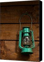 Oil Lamp Canvas Prints - Old lamp Canvas Print by Daniel Kulinski