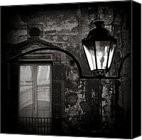Monochrome Canvas Prints - Old Lamp Canvas Print by David Bowman