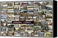 Europe Pyrography Canvas Prints - Old Ljubljana Collage Canvas Print by Janos Kovac