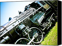 Retro Style Canvas Prints - Old Locomotive 01 Canvas Print by Michael Knight
