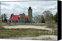Old Chicago Water Tower Canvas Prints - Old Mackinac Point Lighthouse from the Lake Canvas Print by LeeAnn McLaneGoetz McLaneGoetzStudioLLCcom
