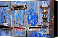 Rusty Door Canvas Prints - Old Mailboxes Canvas Print by Carlos Caetano