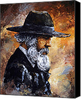 Original Canvas Prints - Old Man Canvas Print by Emerico Toth