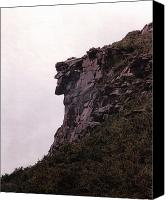 Old Photo Canvas Prints - Old Man of the Mountain Canvas Print by Wayne Toutaint