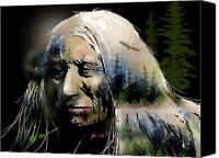 Tribe Canvas Prints - Old Man of the Woods Canvas Print by Paul Sachtleben