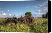 Junk Canvas Prints - Old Massey-Harris Tractor Canvas Print by Matt Dobson