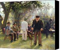 Sat Canvas Prints - Old Men in Rockingham Park Canvas Print by Walter Bonner Gash