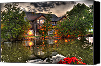 Old Mill Pigeon Forge Canvas Prints - Old Mill Restaurant Canvas Print by Greg and Chrystal Mimbs
