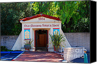 Spanish Style Canvas Prints - Old Mission Santa Ines Solvang California Canvas Print by Susanne Van Hulst