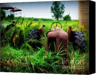 Farm Equipment Canvas Prints - Old Oliver Canvas Print by Perry Webster