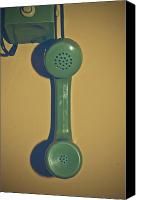 Vintage Telephone Canvas Prints - Old Phone Canvas Print by Joana Kruse