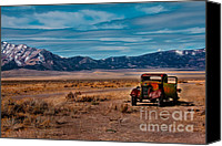 Junk Canvas Prints - Old Pickup Canvas Print by Robert Bales