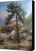 Road Canvas Prints - Old pine tree Canvas Print by Tigran Ghulyan