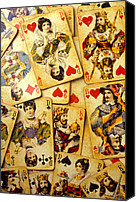 Queens Canvas Prints - Old playing cards Canvas Print by Garry Gay