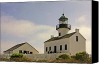 Lens Canvas Prints - Old Point Loma Lighthouse - Cabrillo National Monument San Diego CA Canvas Print by Christine Till