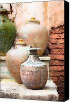 Oil Lamp Canvas Prints - Old pots Canvas Print by Tom Gowanlock
