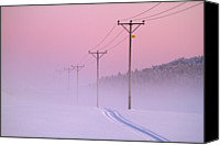 Pink Canvas Prints - Old Powerlines Canvas Print by www.WM ArtPhoto.se