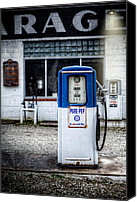 Classic Gas Pumps Canvas Prints - Old pump 3  Canvas Print by Emmanuel Panagiotakis