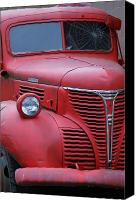 Old Trucks Canvas Prints - Old Red Fargo Canvas Print by Randy Harris