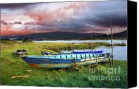 Riverside Canvas Prints - Old Row Boats Canvas Print by Carlos Caetano