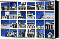 Naval College Canvas Prints - Old Royal Naval College Greenwich London Canvas Print by Pauline Cutler