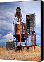 Thunderclouds Canvas Prints - Old Rusted Grain Silo - Utah Canvas Print by Gary Whitton