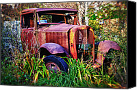 Rusty Door Canvas Prints - Old rusting truck Canvas Print by Garry Gay