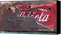 Artyzen Studios Canvas Prints - Old rusty Coca Cola Sign Canvas Print by Anahi DeCanio