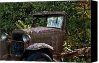 Old Trucks Canvas Prints - Old Rusty Canvas Print by Ross Powell