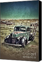 Haunted House Canvas Prints - Old Rusty Truck Canvas Print by Jill Battaglia