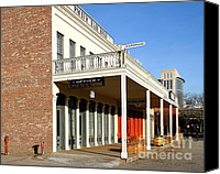 Boardwalks Photo Canvas Prints - Old Sacramento California . Central Pacific Railroad Office Building . 7D11699 Canvas Print by Wingsdomain Art and Photography
