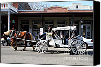 Boardwalks Photo Canvas Prints - Old Sacramento California . Horse Drawn Buggy . 7D11482 Canvas Print by Wingsdomain Art and Photography