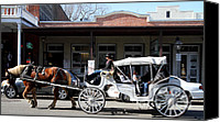 Horse Carriage Canvas Prints - Old Sacramento California . Horse Drawn Buggy . Long Cut . 7D11482 Canvas Print by Wingsdomain Art and Photography