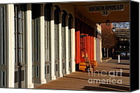 Boardwalks Photo Canvas Prints - Old Sacramento California . Huntington Hopkins and Company . 7D11701 Canvas Print by Wingsdomain Art and Photography